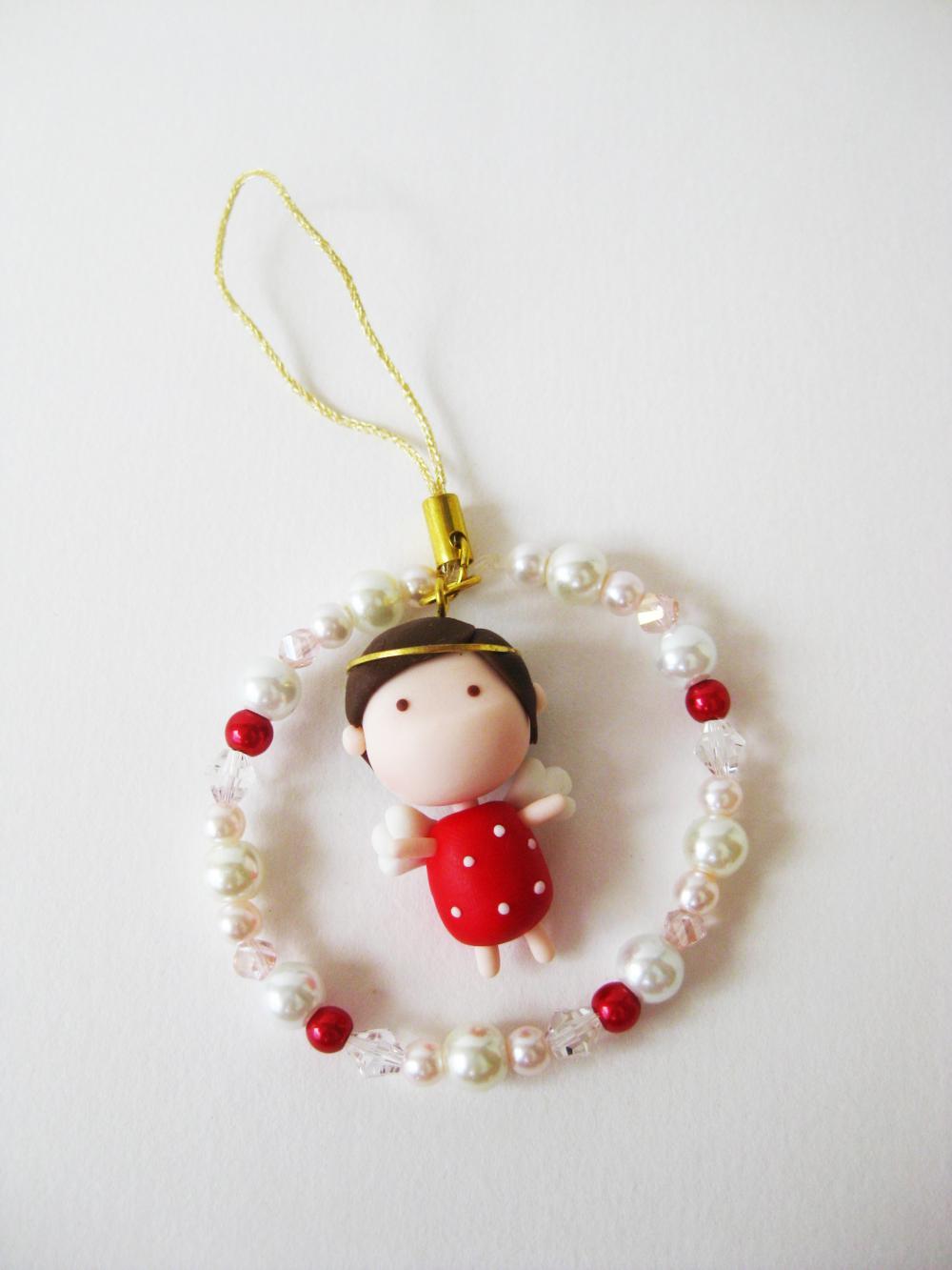 Mantou Angel Keychain Clay ( Red )