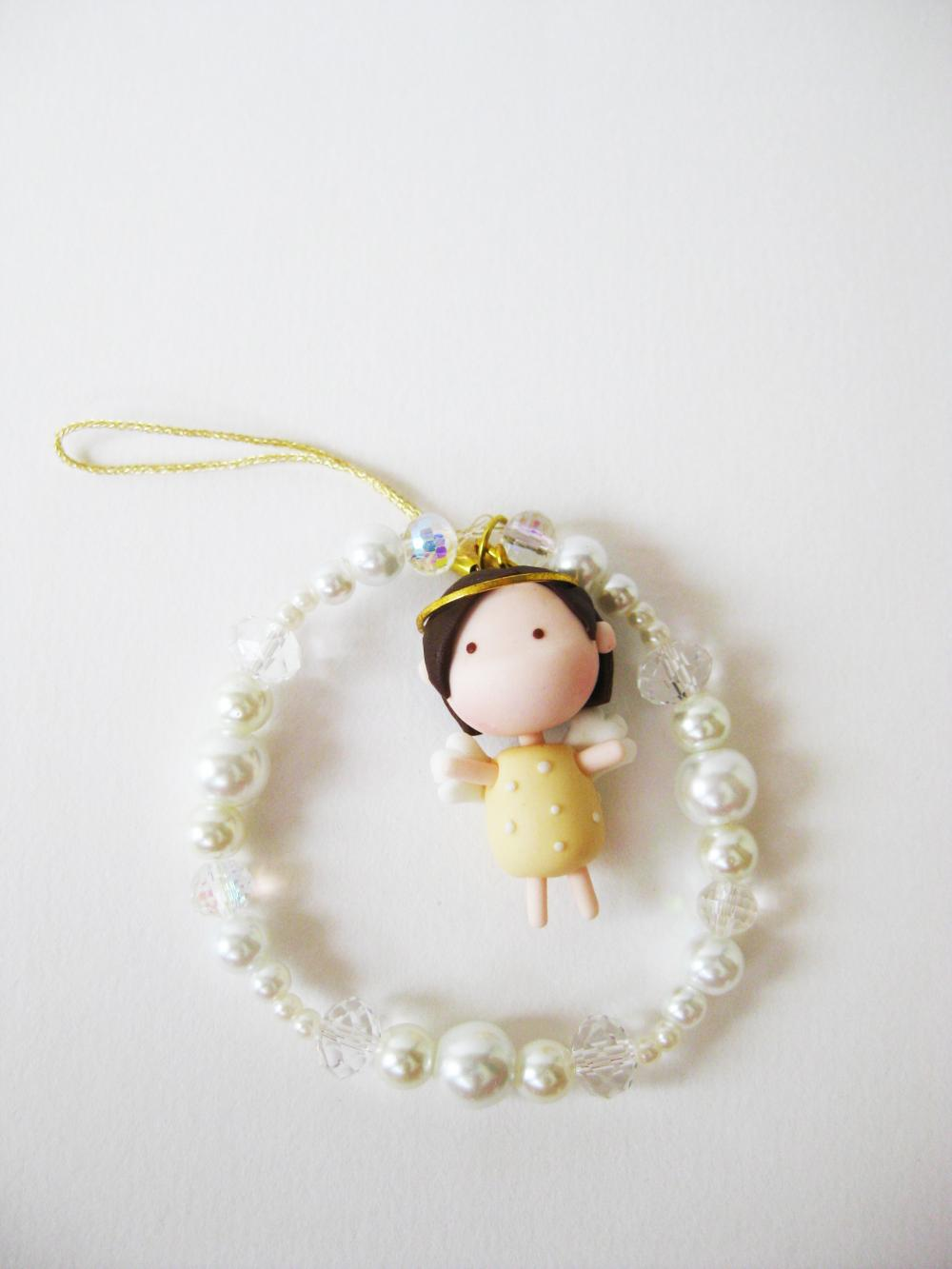 Mantou Angel Keychain Clay ( Yellow )