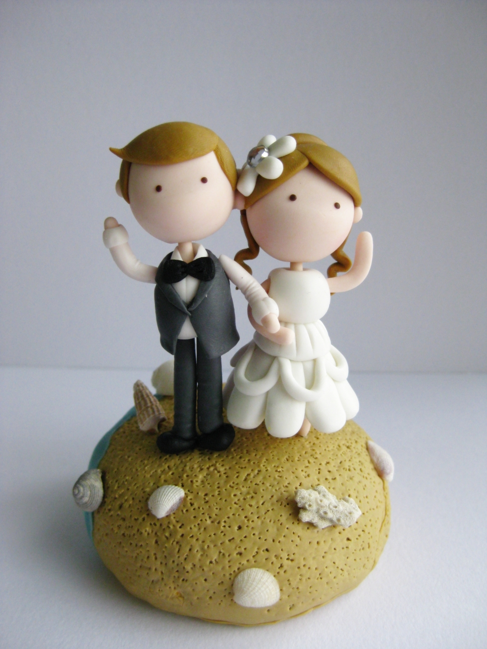 clay wedding cake toppers wedding clay cake topper theme not edible on luulla 12879