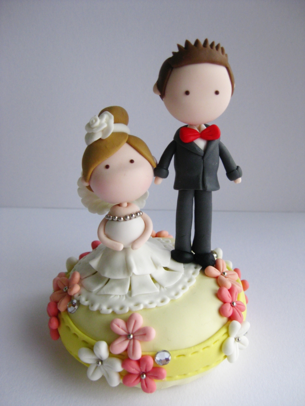 clay wedding cake toppers wedding clay cake topper not edible on luulla 12879